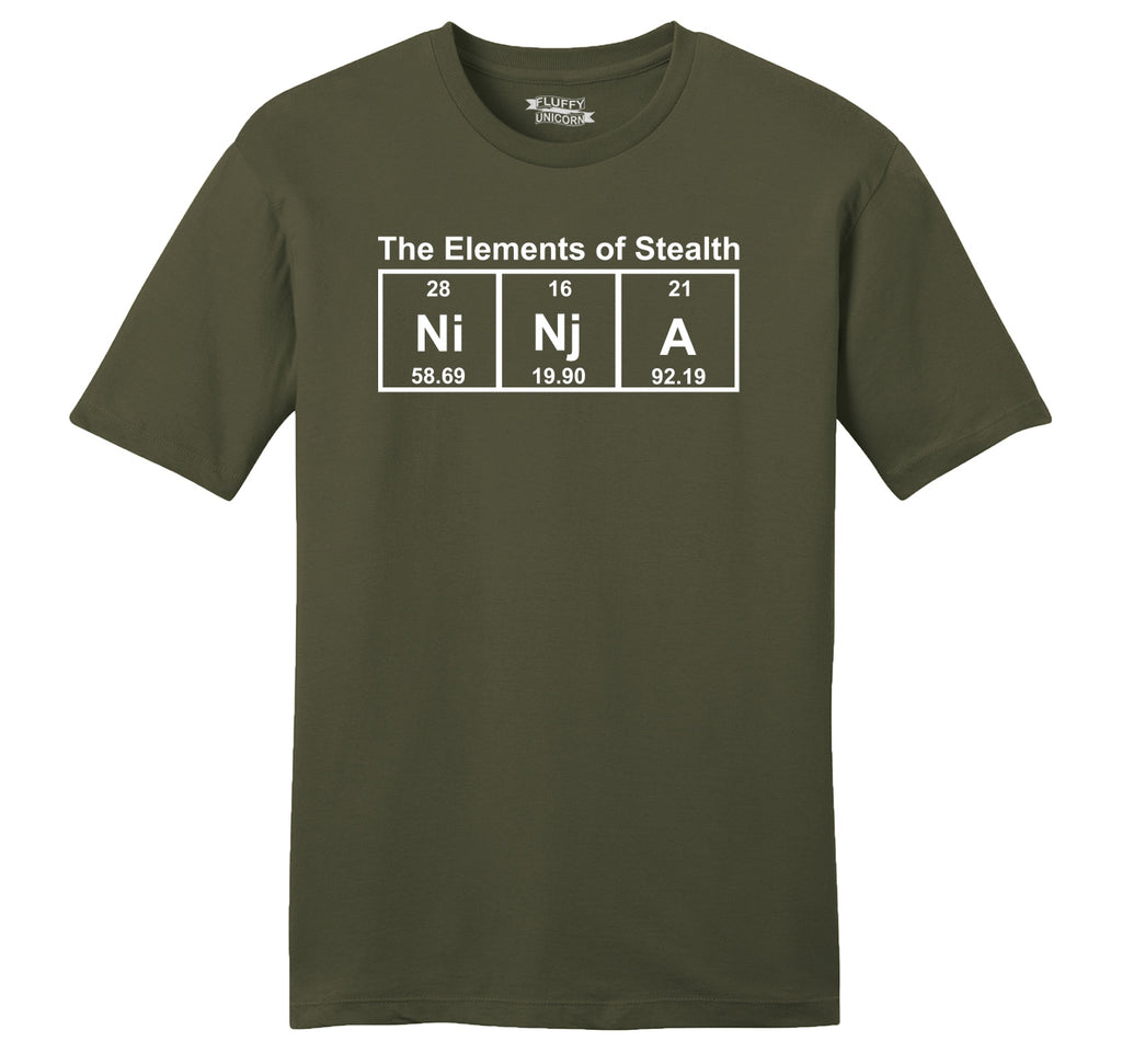 Ninja The Elements Of Stealth Mens Ringspun Cotton Tee Shirt