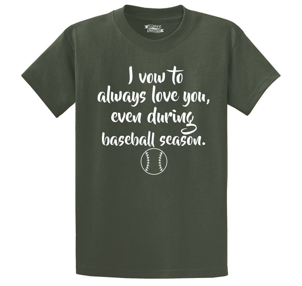 Always Love You Baseball Season Men's Heavyweight Cotton Tee Shirt