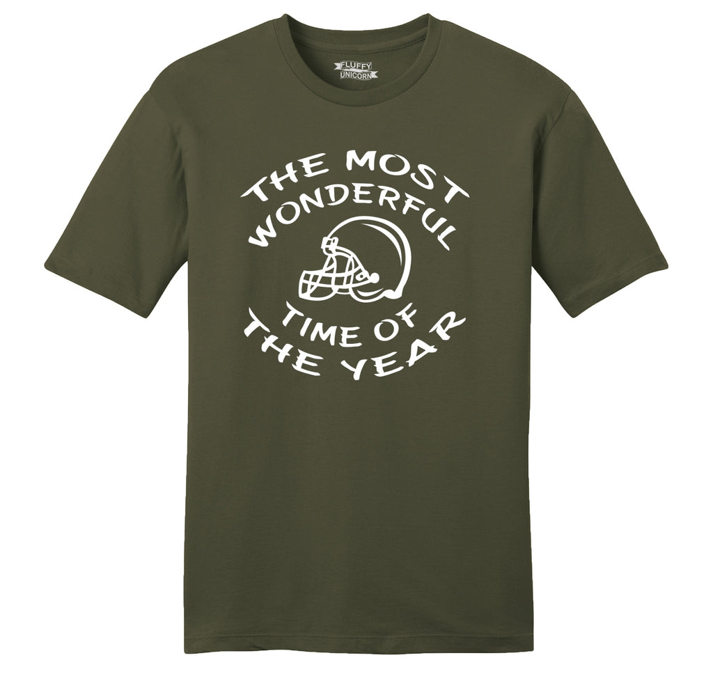 The Most Wonderful Time Of The Year Football Mens Ringspun Cotton Tee Shirt