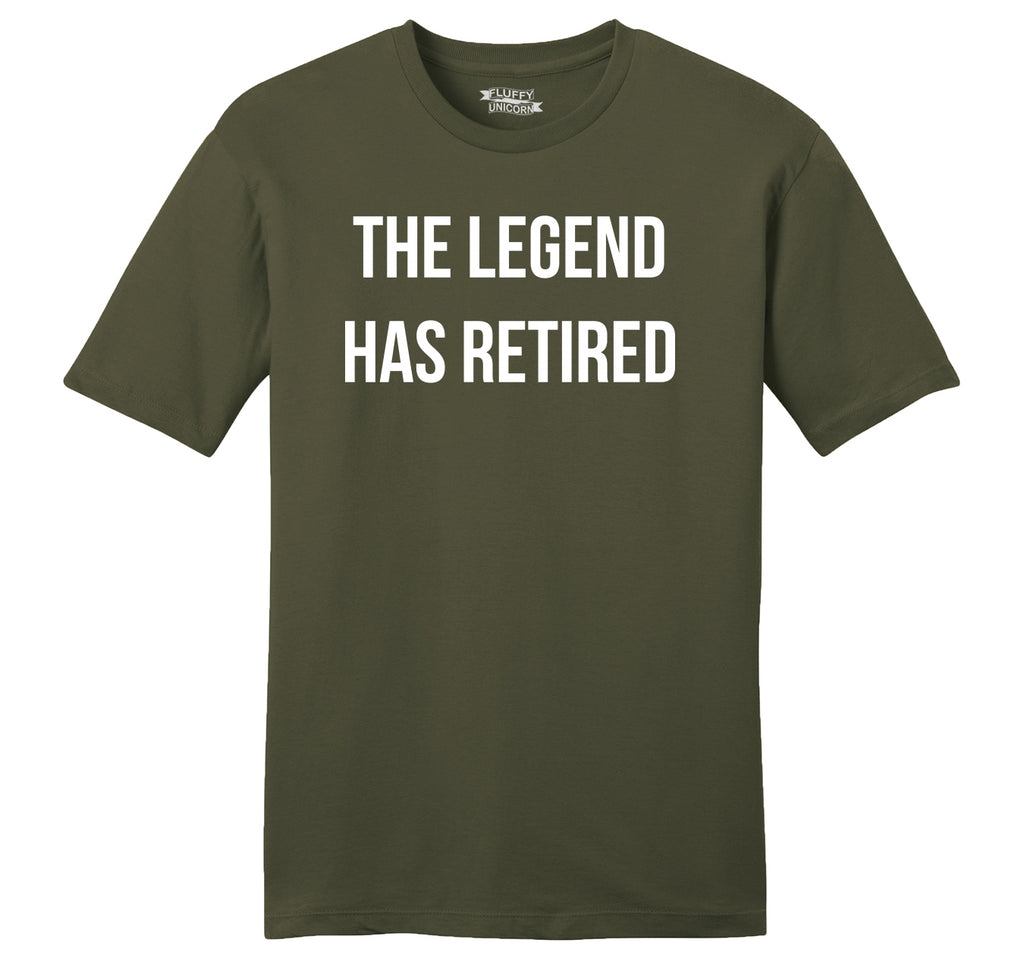 The Legend Has Retired Mens Ringspun Cotton Tee Shirt