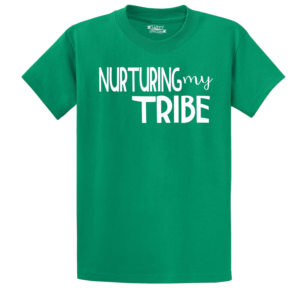 Nurturing My Tribe Men's Heavyweight Big & Tall Cotton Tee Shirt