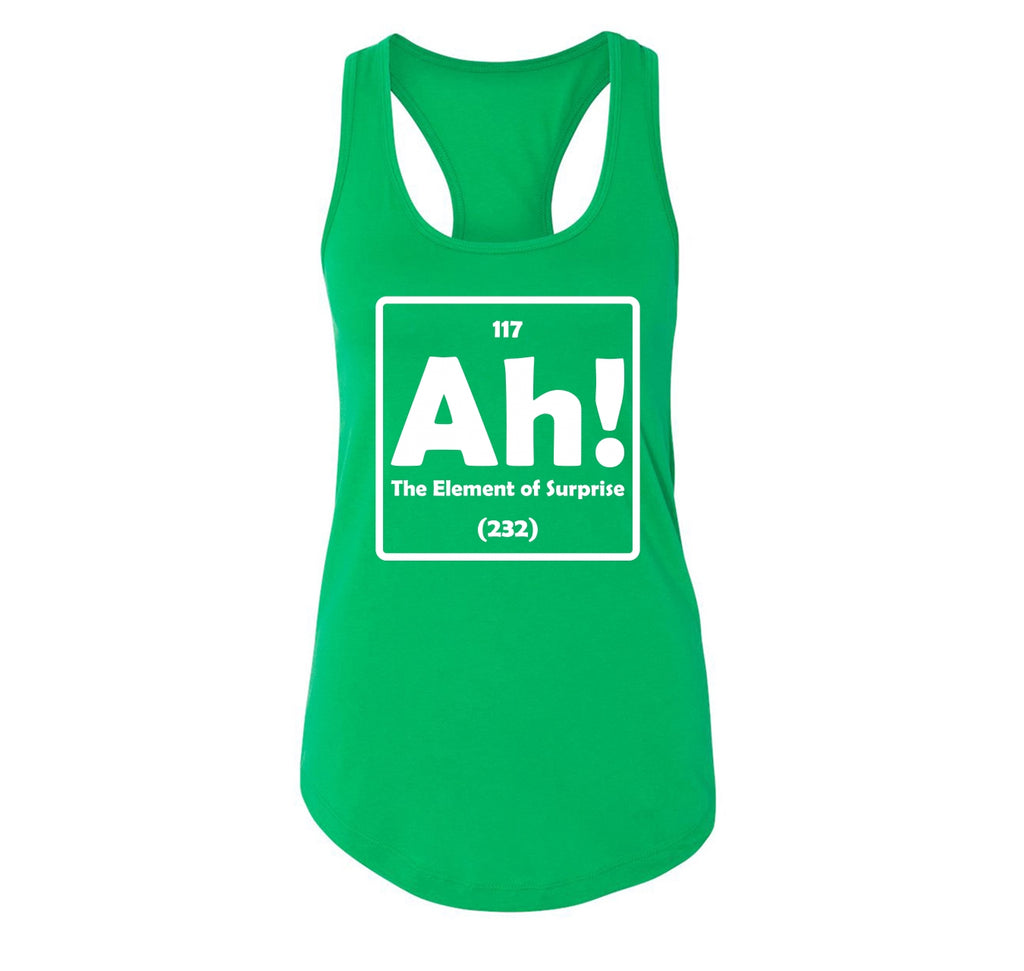 Ah! The Element Of Surprise Ladies Racerback Tank Top