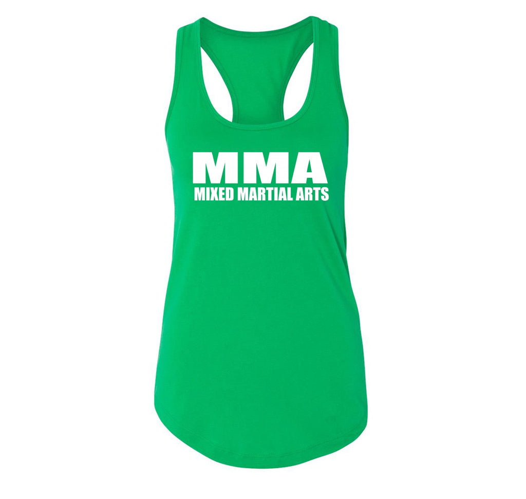 MMA Mixed Martial Arts Trainer Fighter Workout BJJ Shirt Ladies Racerback Tank Top