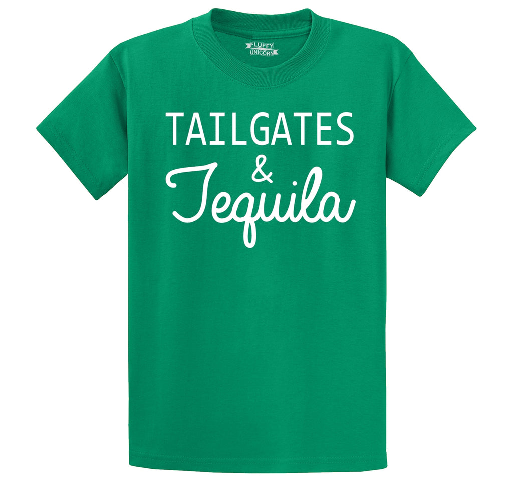 Tailgates and Tequila Men's Heavyweight Cotton Tee Shirt