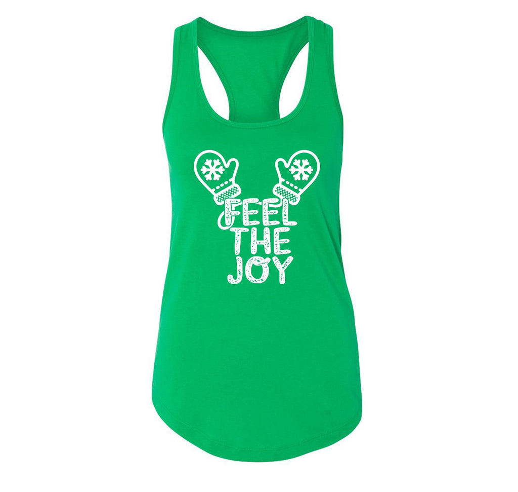 Feel The Joy Ladies Racerback Tank Top