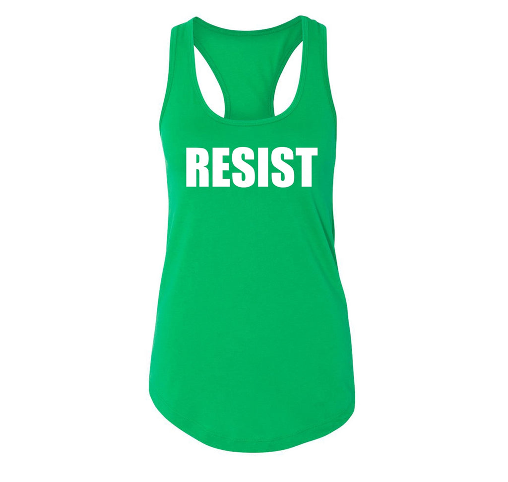 Resist Tee Anti Donald Trump Political Protest Trump Rally Tee Ladies Racerback Tank Top