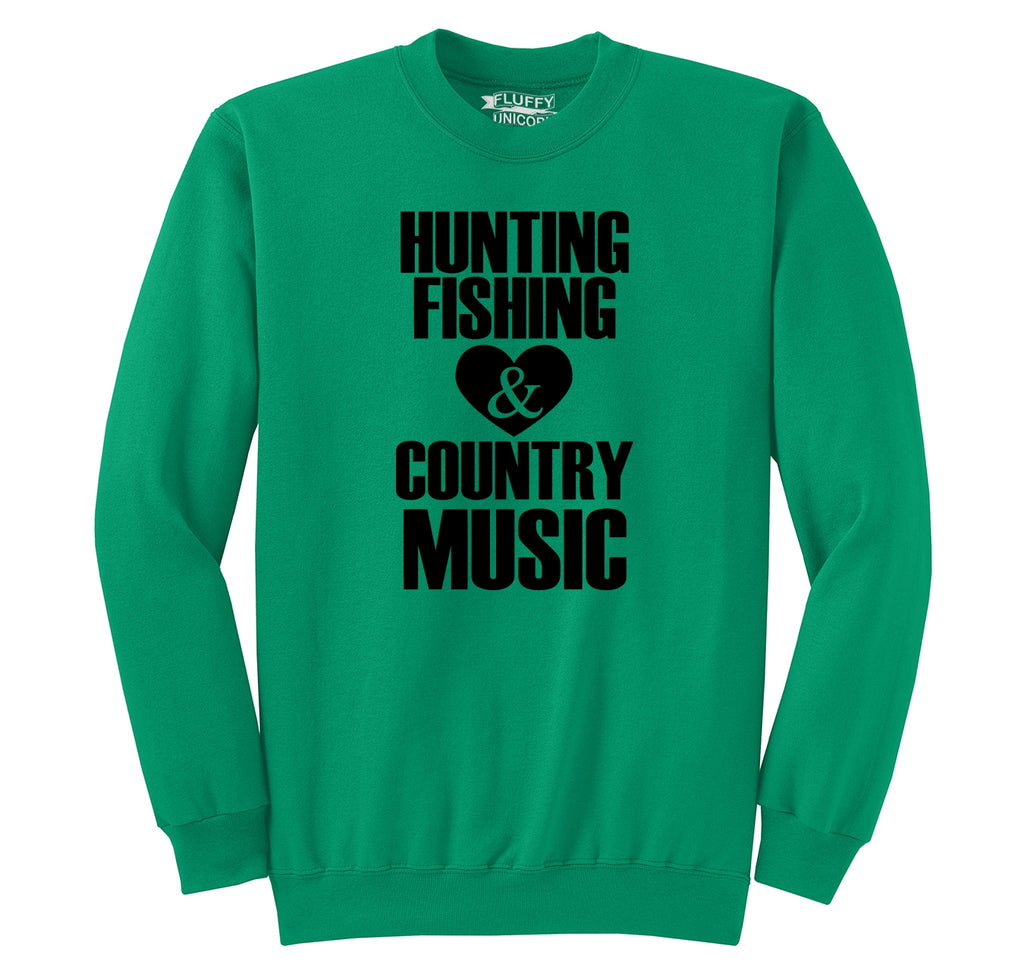 Hunting Fishing And Country Music Crewneck Sweatshirt