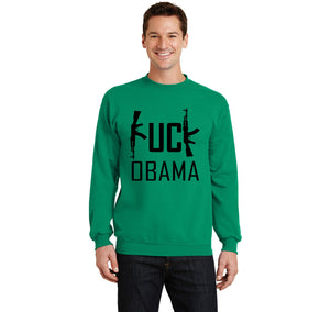 Fuck Obama Crewneck Sweatshirt
