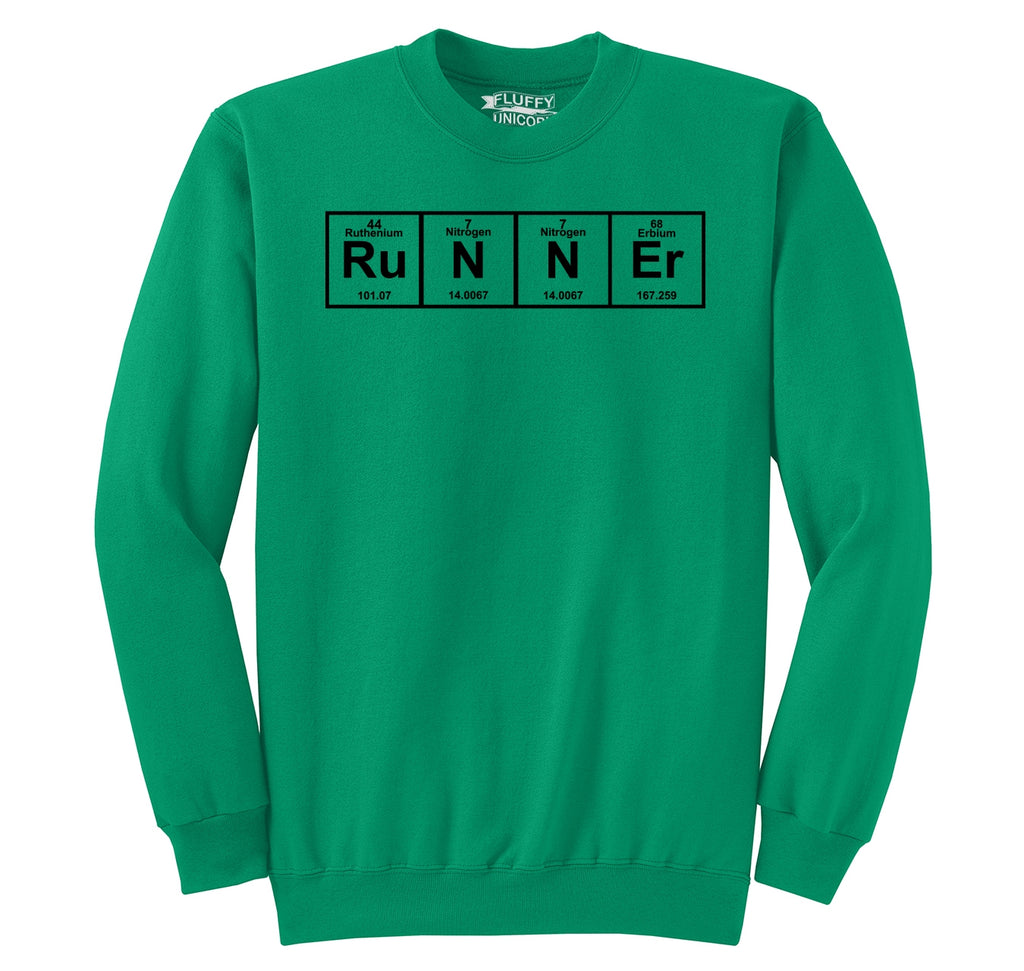 Runner - Periodic Table Of Elements Crewneck Sweatshirt