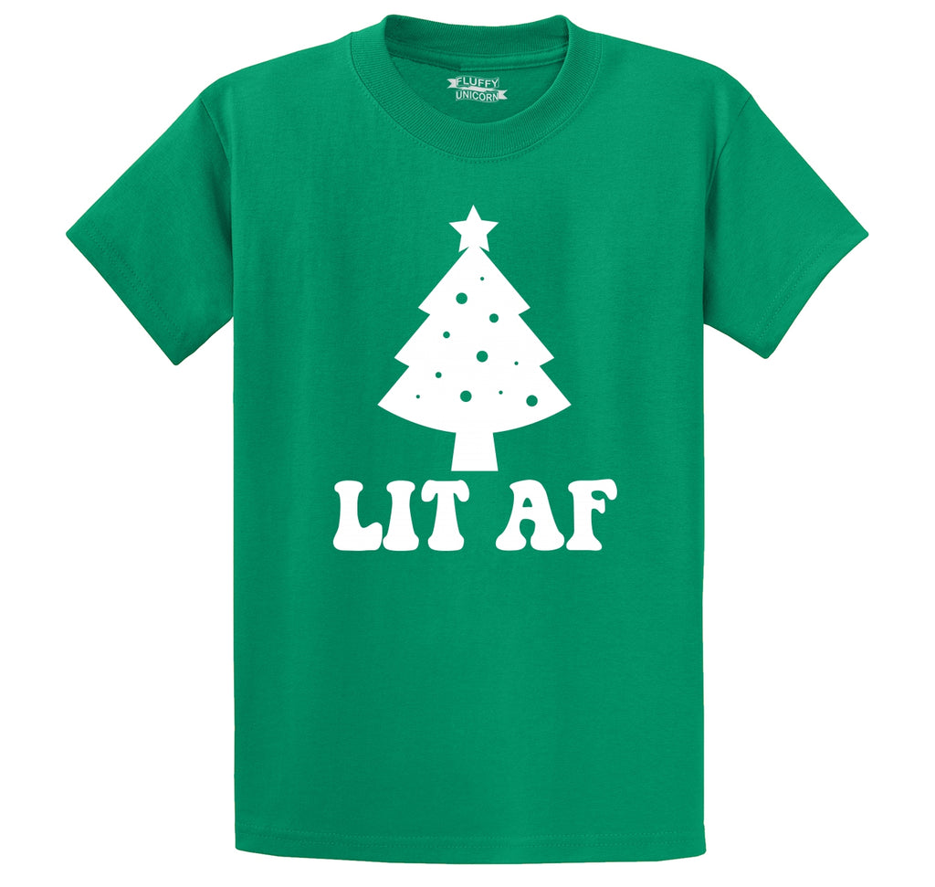 Lit AF Men's Heavyweight Cotton Tee Shirt