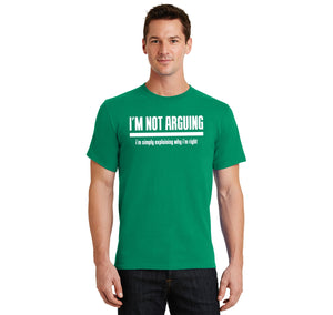 I'm Not Arguing I'm Simply Explaining Why I'm Right Men's Heavyweight Big & Tall Cotton Tee Shirt
