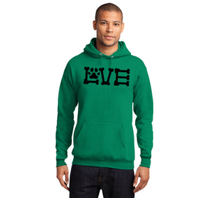 Love Dogs Dog Bone Puppy Lover Hooded Sweatshirt