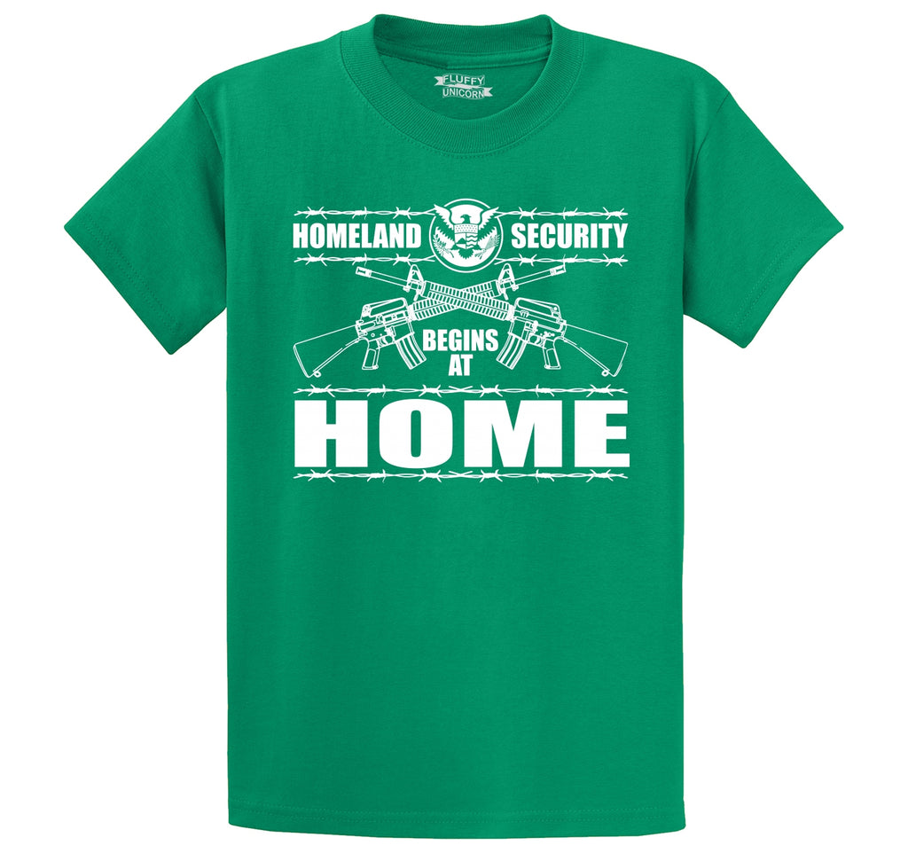 Homeland Security Begins At Home Men's Heavyweight Big & Tall Cotton Tee Shirt