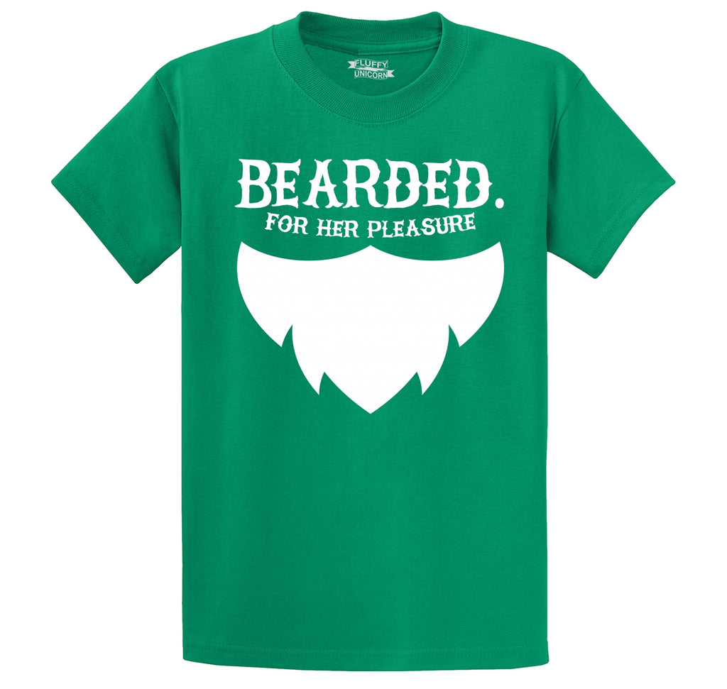 Bearded For Her Pleasure Men's Heavyweight Big & Tall Cotton Tee Shirt