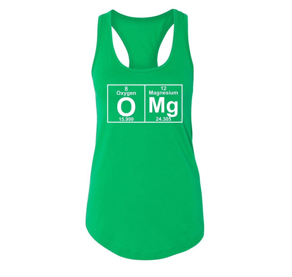 OMG Periodic Table Of Elements Ladies Racerback Tank Top