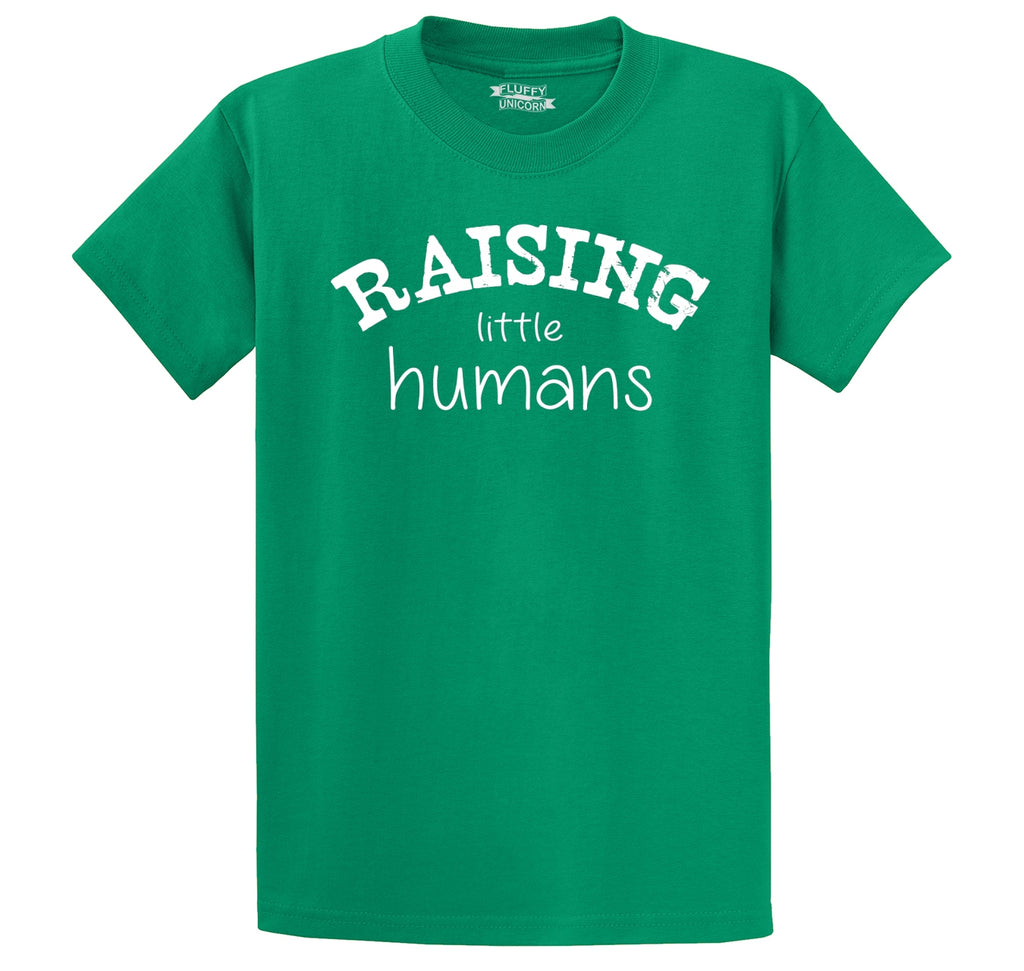 Raising Little Humans Men's Heavyweight Big & Tall Cotton Tee Shirt