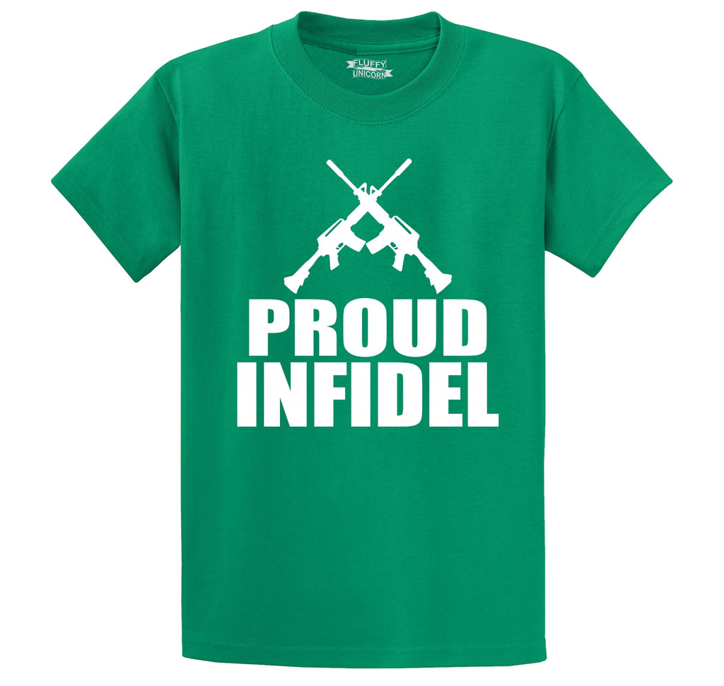 Proud Infidel Men's Heavyweight Cotton Tee Shirt