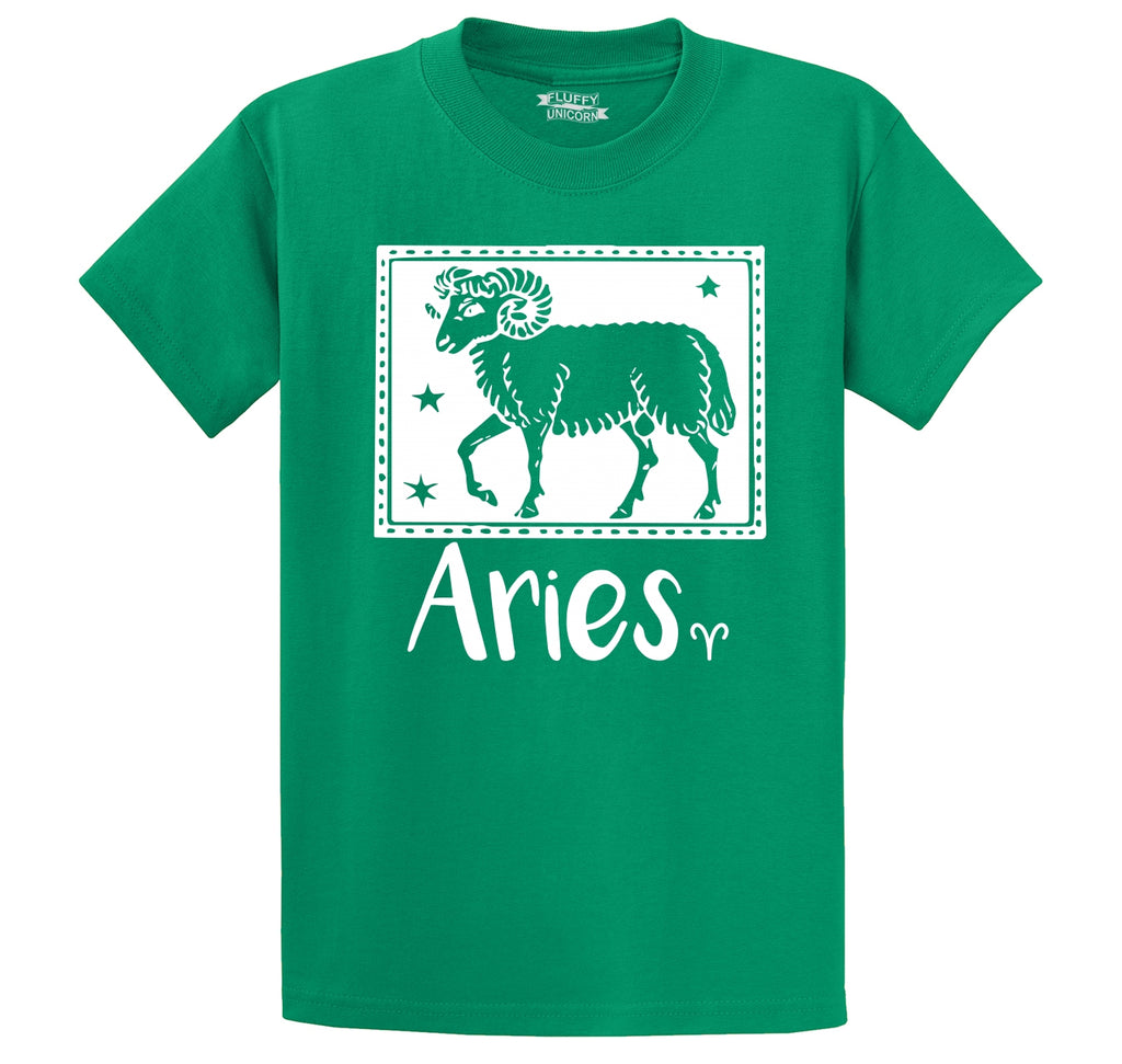 Horoscope Aries Tee Men's Heavyweight Cotton Tee Shirt