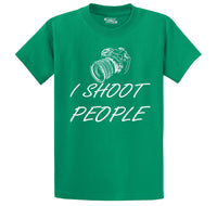 I Shoot People Men's Heavyweight Big & Tall Cotton Tee Shirt