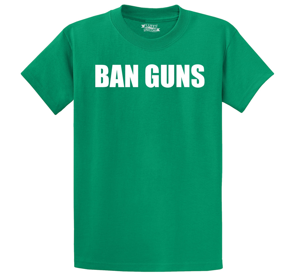 Ban Guns Men's Heavyweight Cotton Tee Shirt