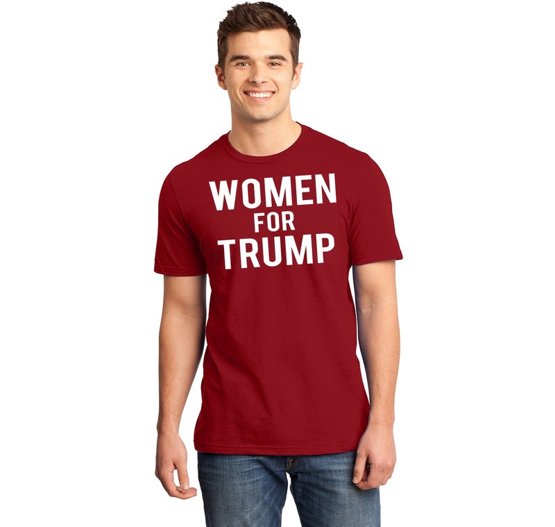 Women For Trump Mens Ringspun Cotton Tee Shirt
