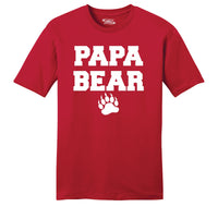 Papa Bear Mens Ringspun Cotton Tee Shirt