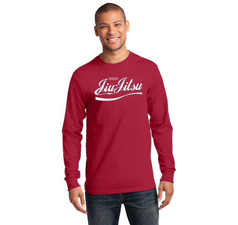 Enjoy Jiu Jitsu Parody Mens Long Sleeve Tee Shirt