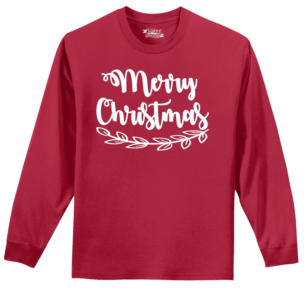 Merry Christmas Mens Long Sleeve Tee Shirt