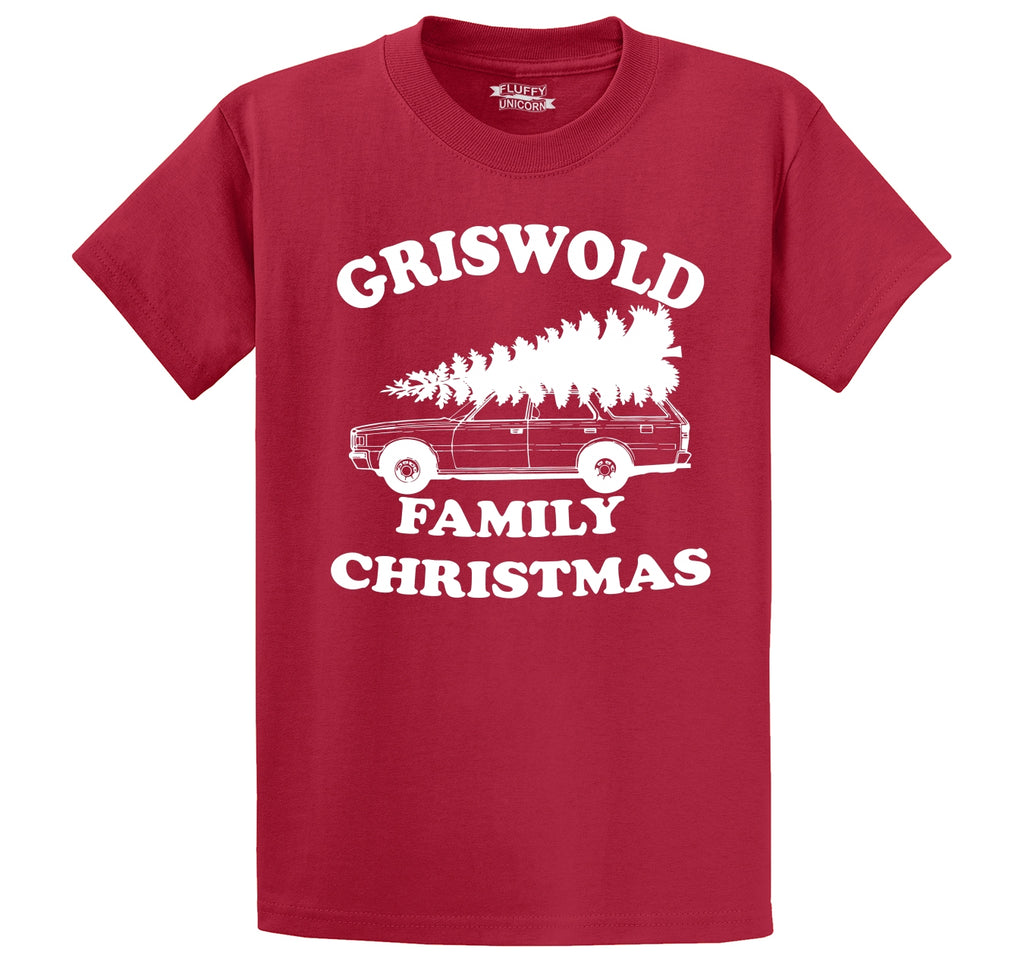 Griswold Family Christmas Men's Heavyweight Big & Tall Cotton Tee Shirt
