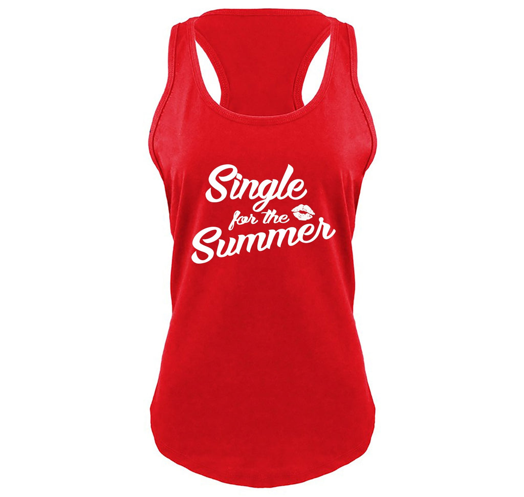 Single For The Summer Ladies Gathered Racerback Tank Top