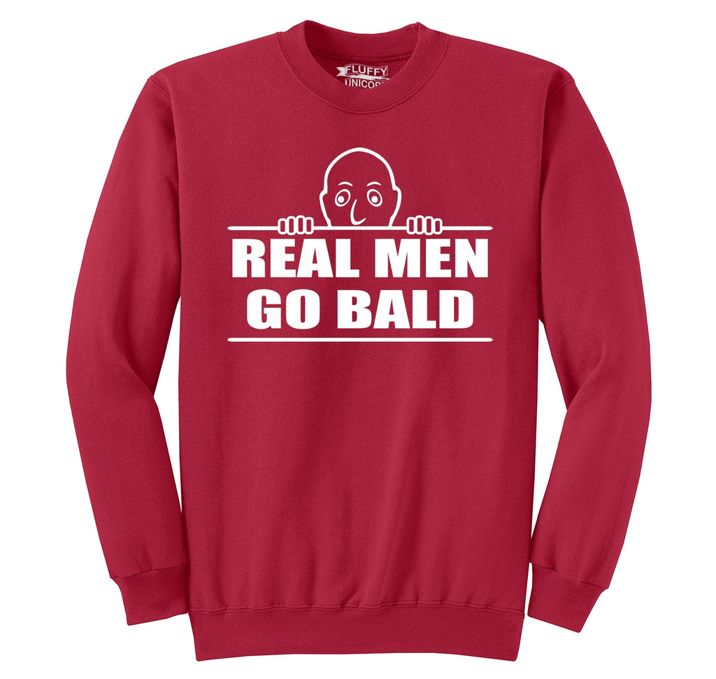 Real Men Go Bald Crewneck Sweatshirt