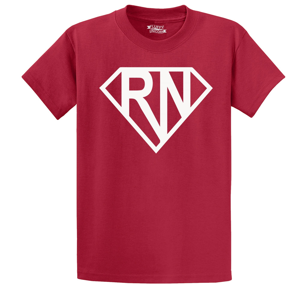 Super RN Super Nurse Tee Girlfriend Wife Mom Nurse Gift Tee Men's Heavyweight Cotton Tee Shirt
