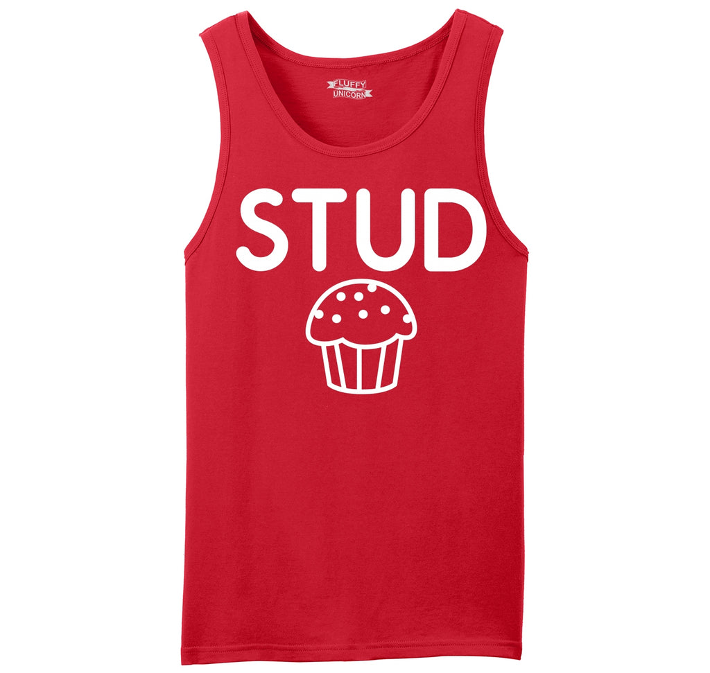 Stud Muffin Funny Tee Cute Boyfriend Gift Tee Mens Sleeveless Tank Top
