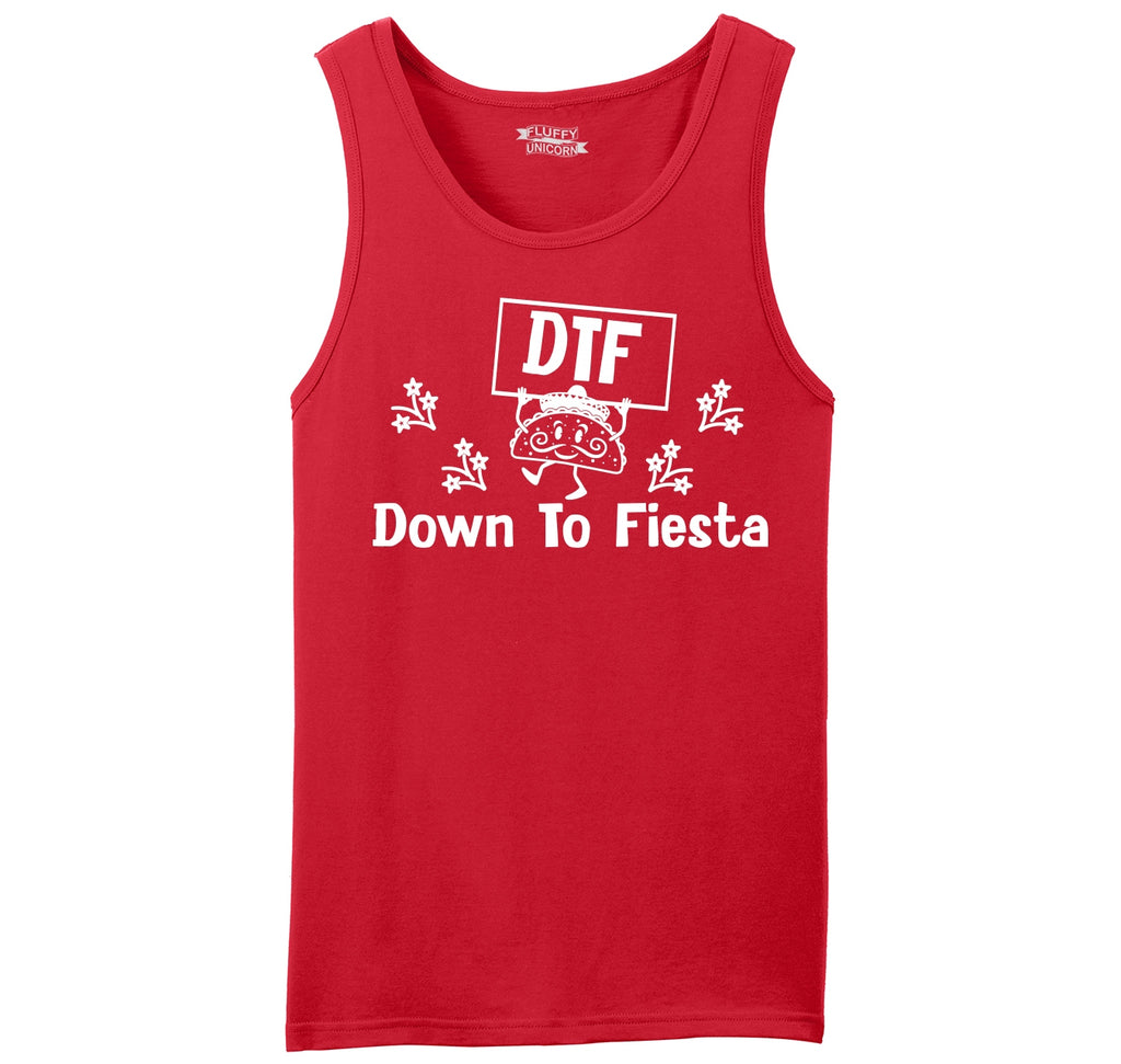 DTF Down To Fiesta Mexican Party Mens Sleeveless Tank Top