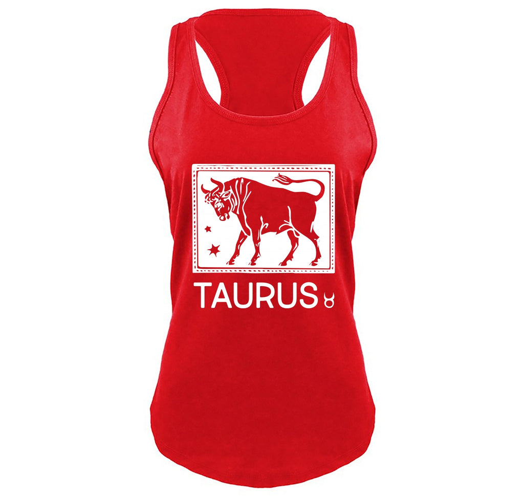 Taurus Horoscope Ladies Gathered Racerback Tank Top