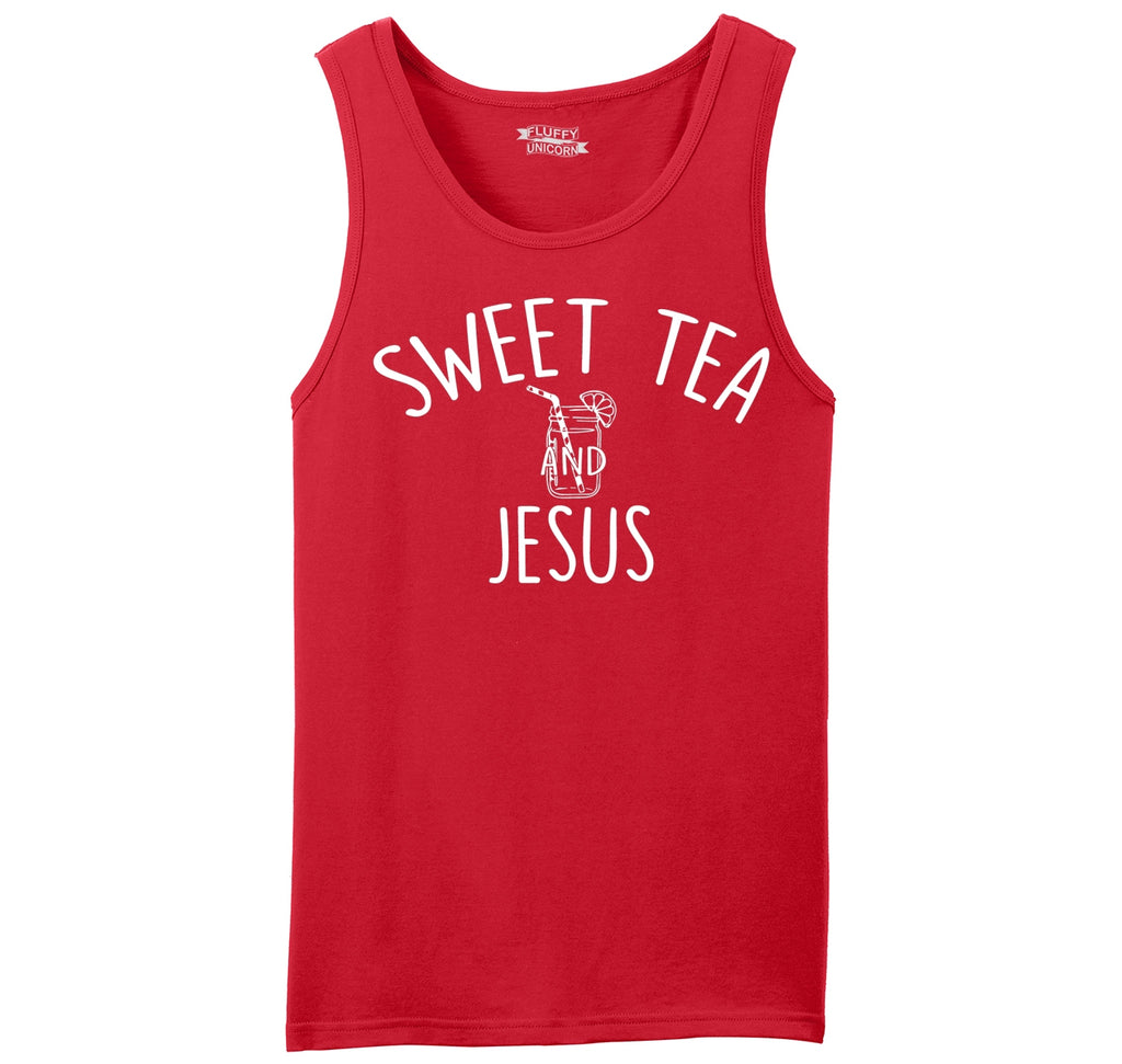 Sweet Tea and Jesus Mens Sleeveless Tank Top