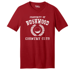 Property Of Bushwood Country Club Mens Short Sleeve Ringspun V Neck