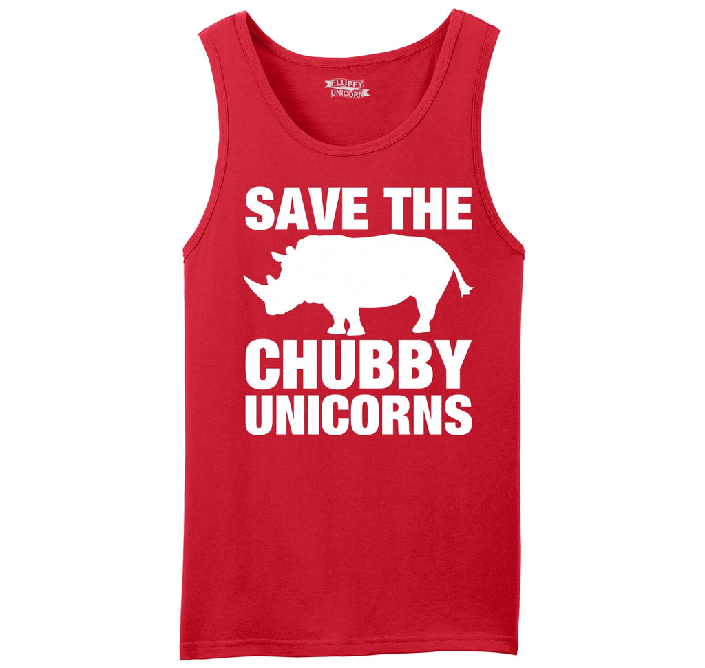 Save The Chubby Unicorns Funny Tee Mens Sleeveless Tank Top