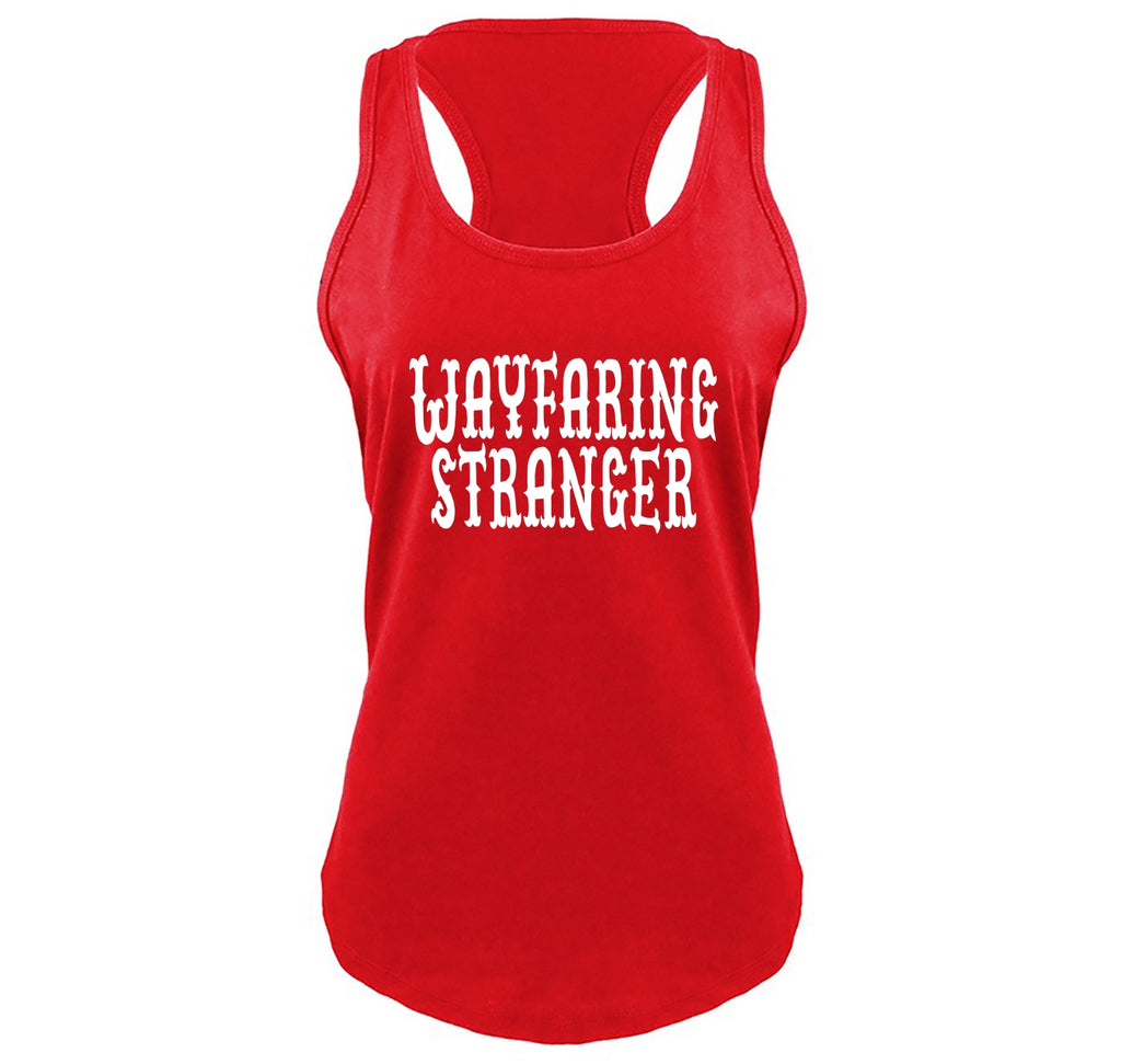 Wayfaring Stranger Ladies Gathered Racerback Tank Top