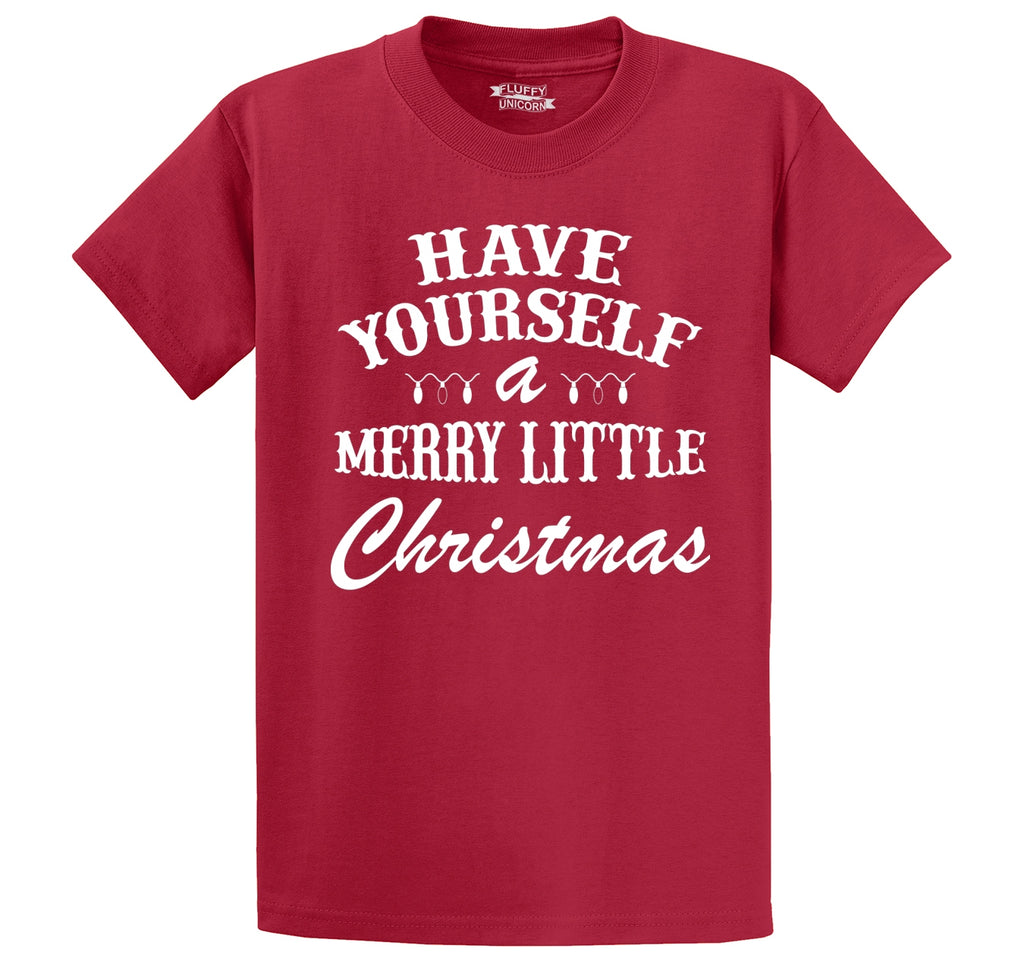 Have Yourself A Merry Little Christmas Men's Heavyweight Cotton Tee Shirt