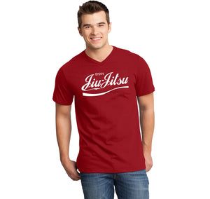 Enjoy Jiu Jitsu Parody Mens Short Sleeve Ringspun V Neck
