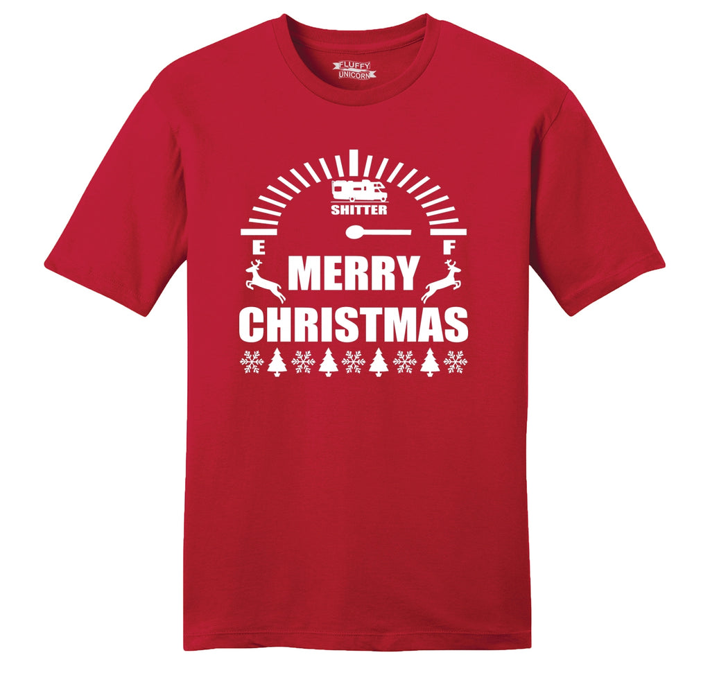 Merry Christmas Shitters Full Mens Ringspun Cotton Tee Shirt