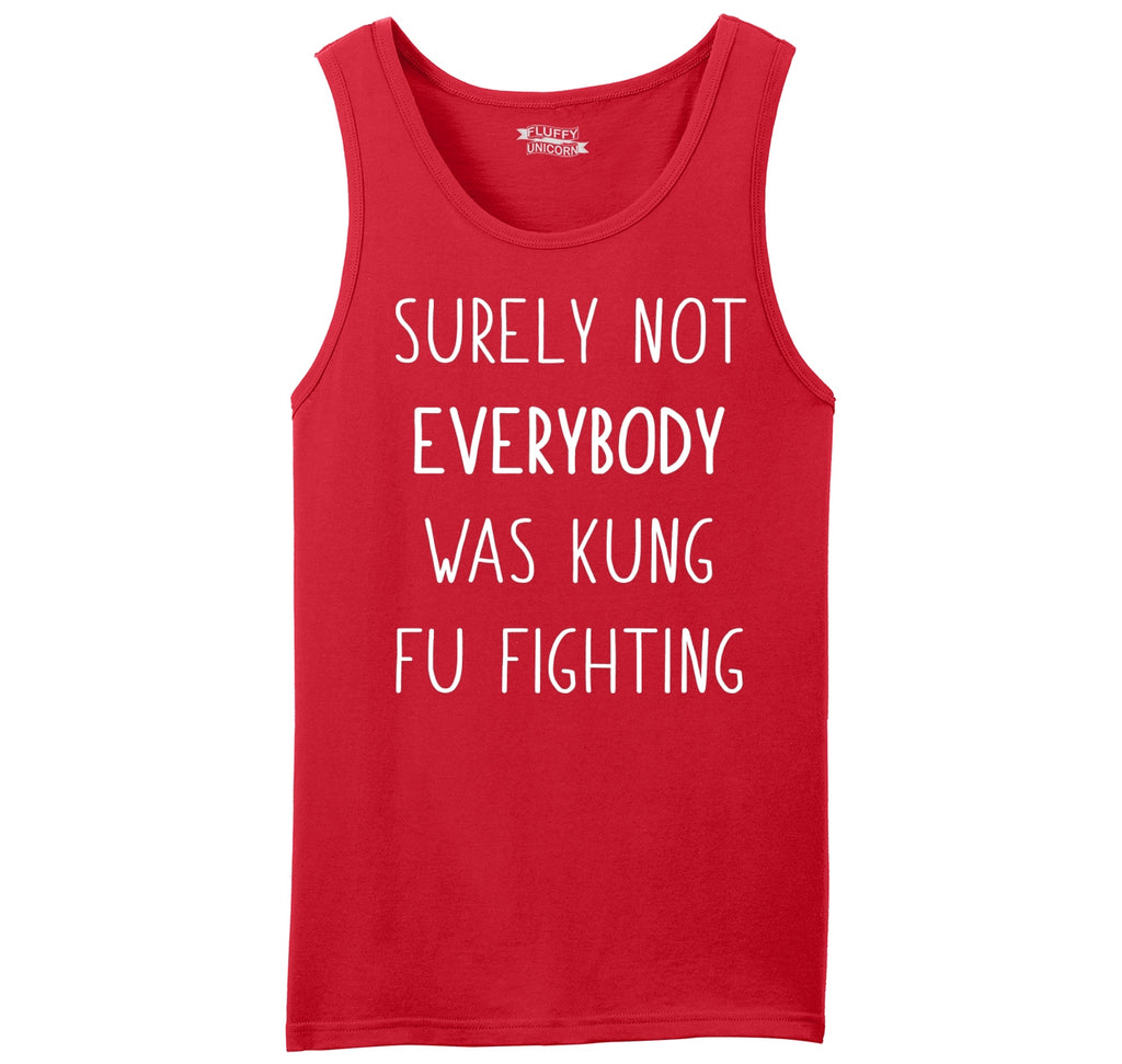 Surely Not Everybody Kung Fu Fighting Mens Sleeveless Tank Top