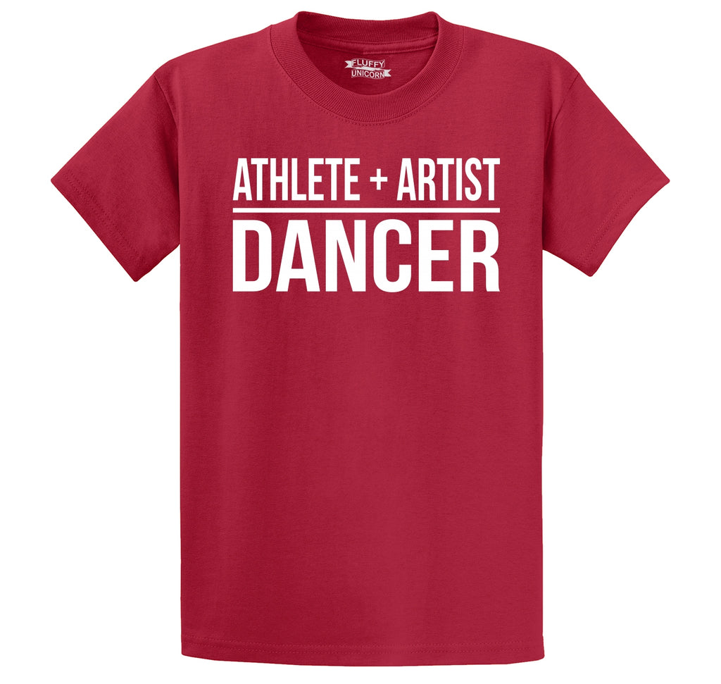 Athlete Artist Dancer Men's Heavyweight Big & Tall Cotton Tee Shirt