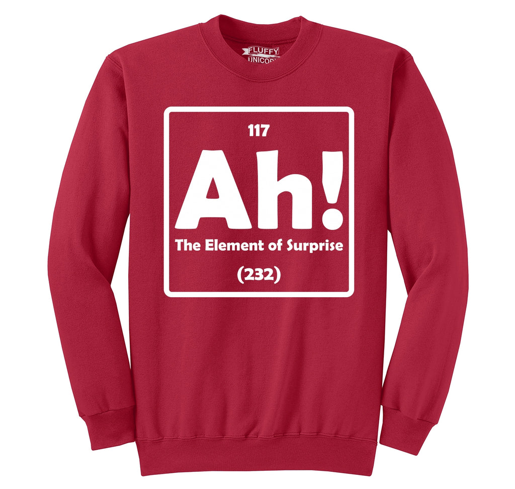 Ah! The Element Of Surprise Crewneck Sweatshirt