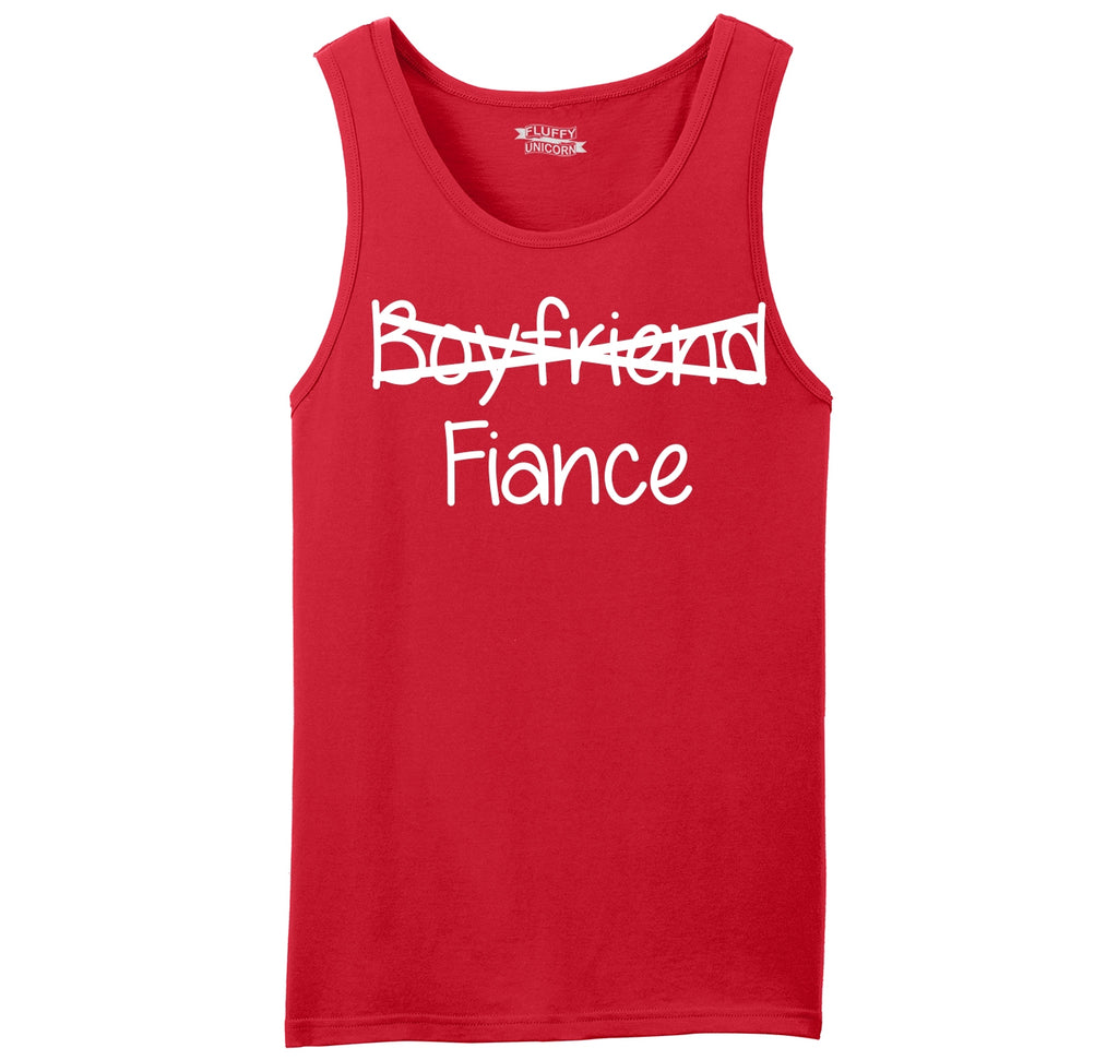 Boyfriend Crossed Out Fiance Mens Sleeveless Tank Top
