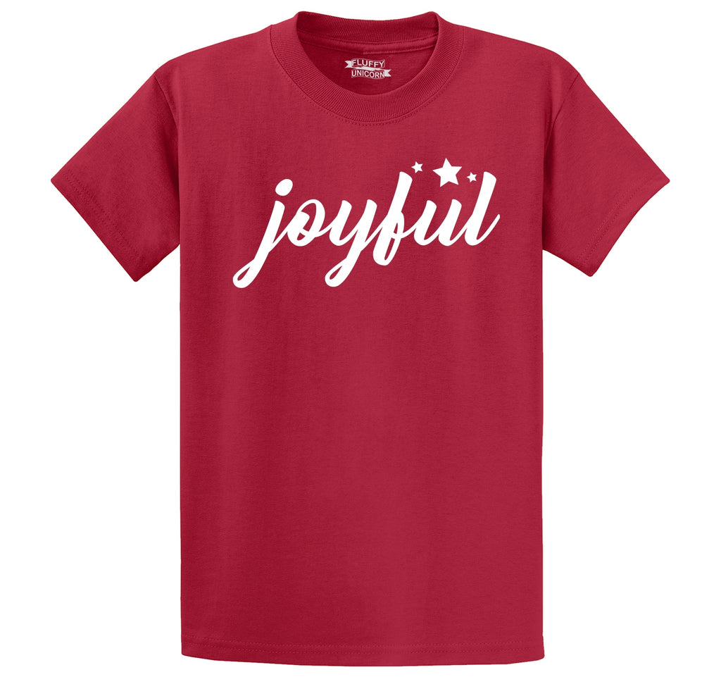 Joyful Men's Heavyweight Big & Tall Cotton Tee Shirt