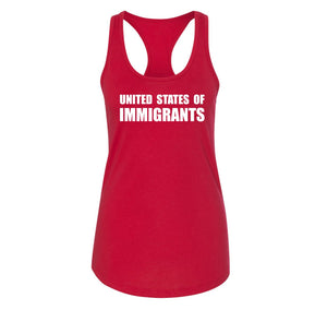United States of Immigrants Ladies Racerback Tank Top