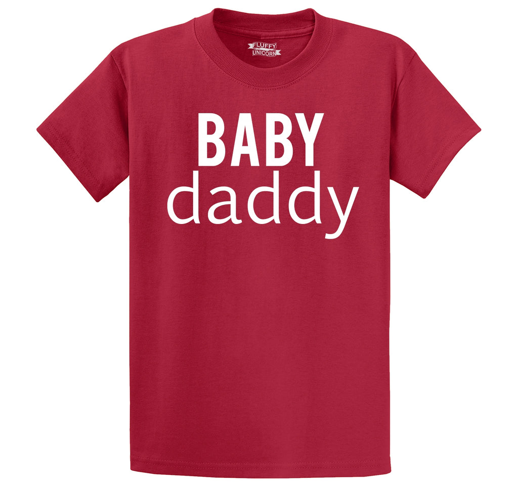Baby Daddy New Baby Father Dad Tee Men's Heavyweight Cotton Tee Shirt