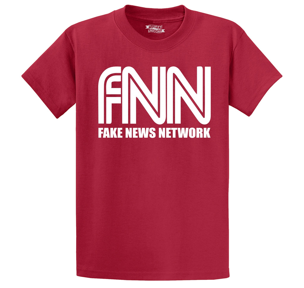 FNN Fake News Network Funny Political Trump Tee Men's Heavyweight Cotton Tee Shirt